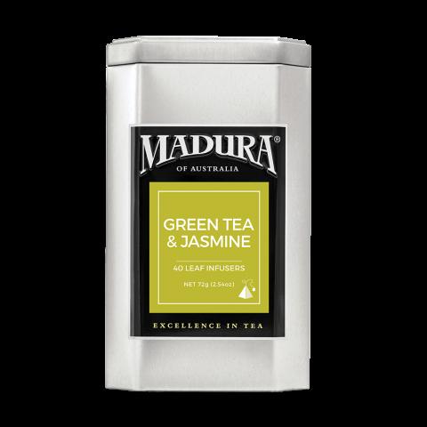 Green Tea & Jasmine  40 Leaf Infusers  in Caddy
