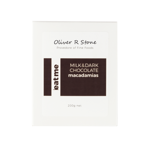 Oliver R Stone  Milk & Dark  Chocolate Macadamias