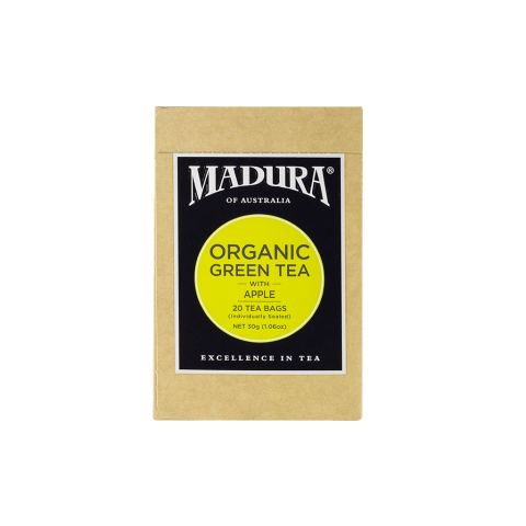Organic Green  with Apple  20 Enveloped Tea Bags
