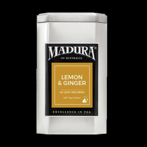 Lemon & Ginger  40 Leaf Infusers  in Caddy