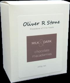 Oliver R Stone  Milk & Dark  Chocolate Macadamias