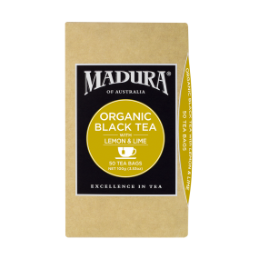 Organic Black Tea  with Lemon & Lime  50 Tea Bags