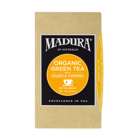 Organic Green  with Ginger & Turmeric  50 Tea Bags