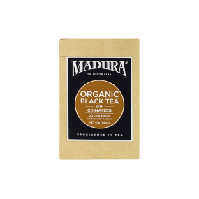 Organic Black  with Cinnamon  20 Enveloped Tea Bags