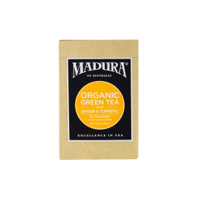 Organic Green  with Ginger & Turmeric  20 Enveloped Tea Bags