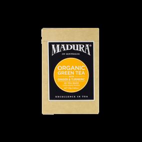 Organic Green Tea  with Ginger & Turmeric  20 Enveloped Bags