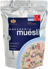 Brookfarm  Natural Macadamia Muesli  with Cranberry 500g
