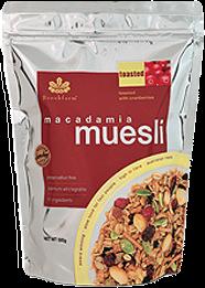 Brookfarm  Toasted Macadamia Muesli  with Cranberry 500g