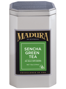 Sencha Green  40 Silk Infusers  in Caddy