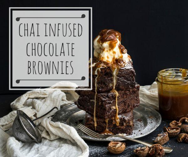 Chai Infused Chocolate Brownies