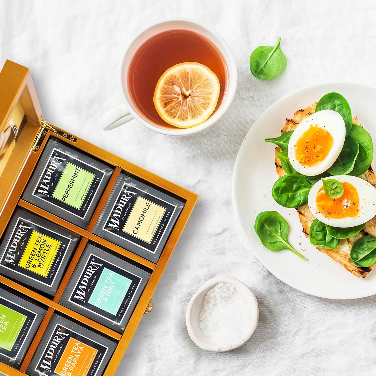 madura tea caddy