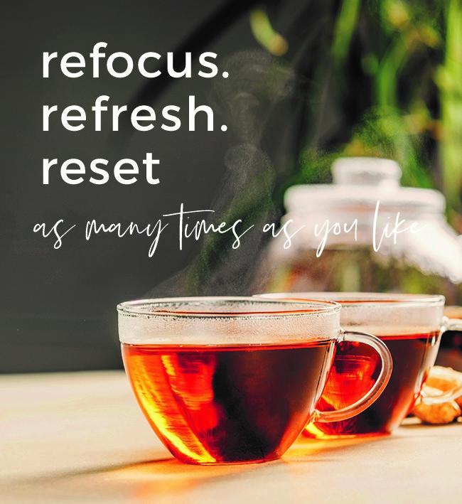 black tea in glass cups